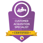 Certified Customer Acquisition Specialist badge
