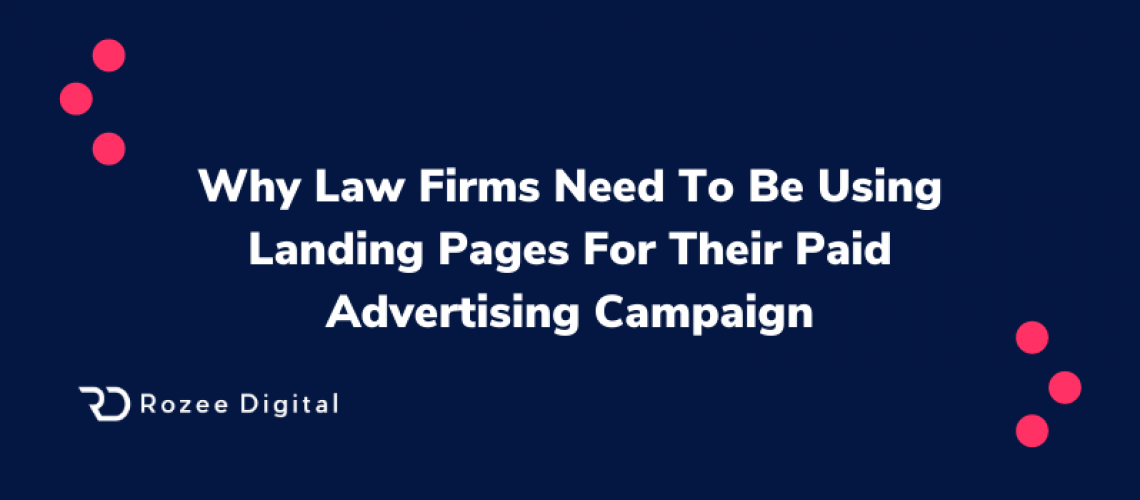 Law Firms and Landing Pages